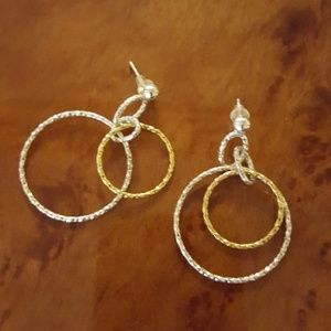 Hanging Double Hoop Earrings